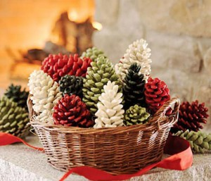 Christmas Pine Cone Firestarters