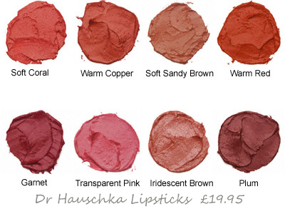 Rich and creamy Dr Hauschka Lipsticks give cold weather protection