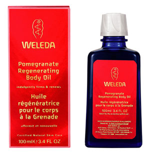 weleda pomegranate body oil