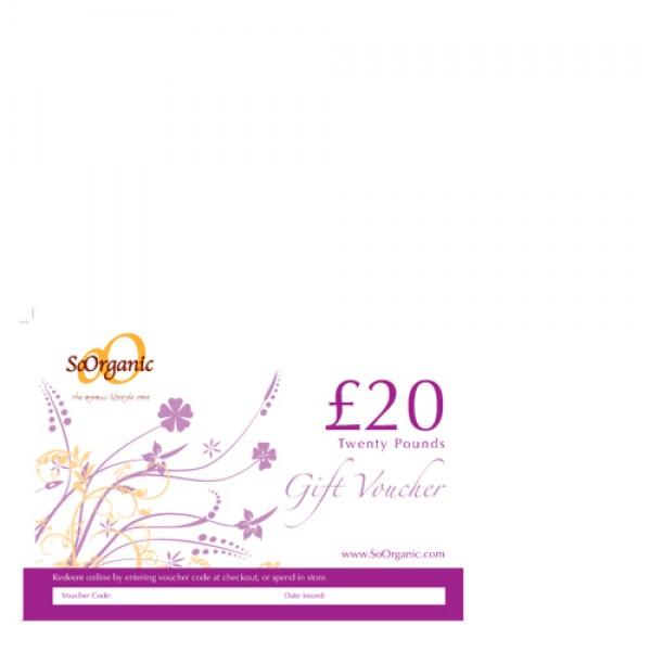 So Organic Gift Voucher £20