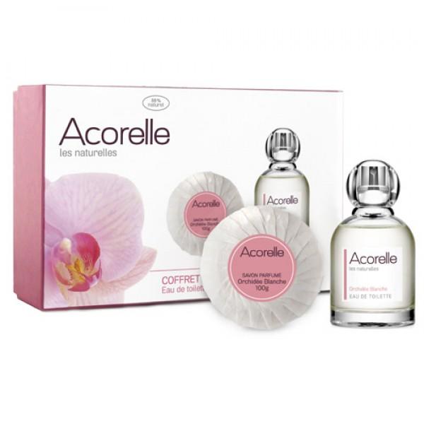 Acorelle White Orchid Natural Eau de Toilette Gift Set