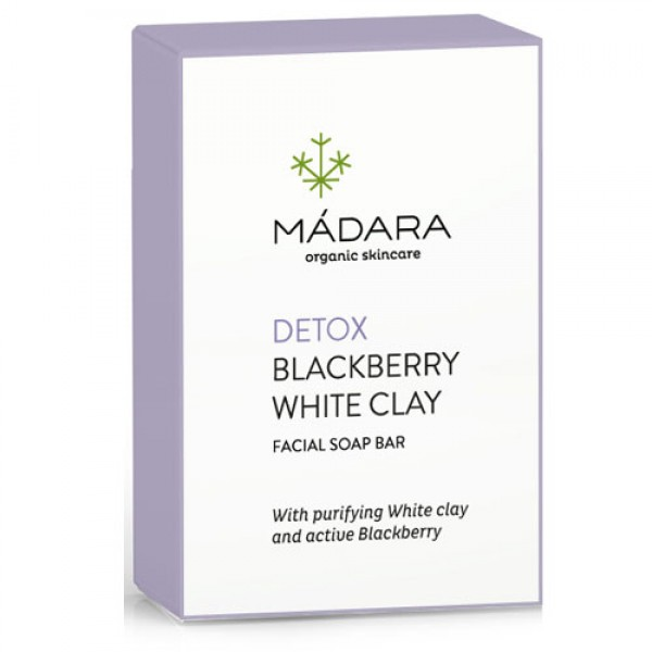 Madara Blackberry White Clay Clarifying Face Soap