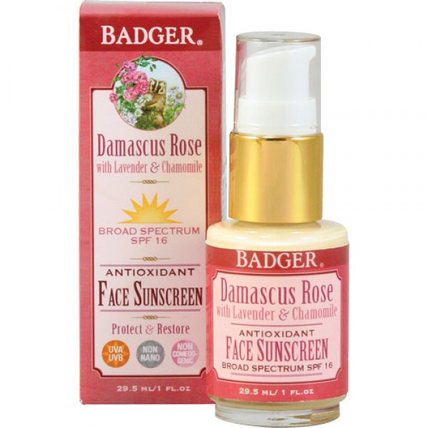 Badger Rose Face Lotion SPF16