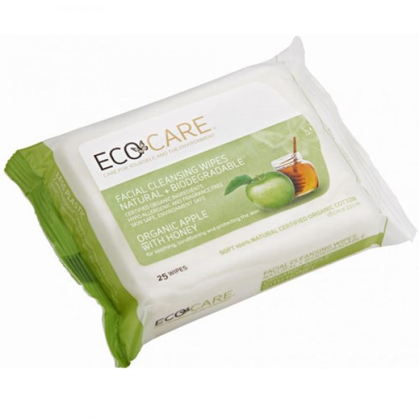 Eco Care Facial Wipes Apple + Honey