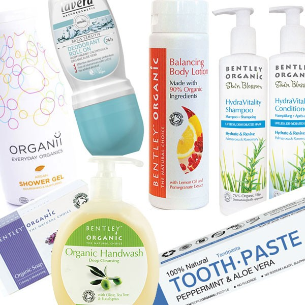 8 items including: Toothpaste, Deodorant, Shower Gel, Shampoo, Body Lotion, Hand Wash, Conditioner, Hand Cream, & Soap