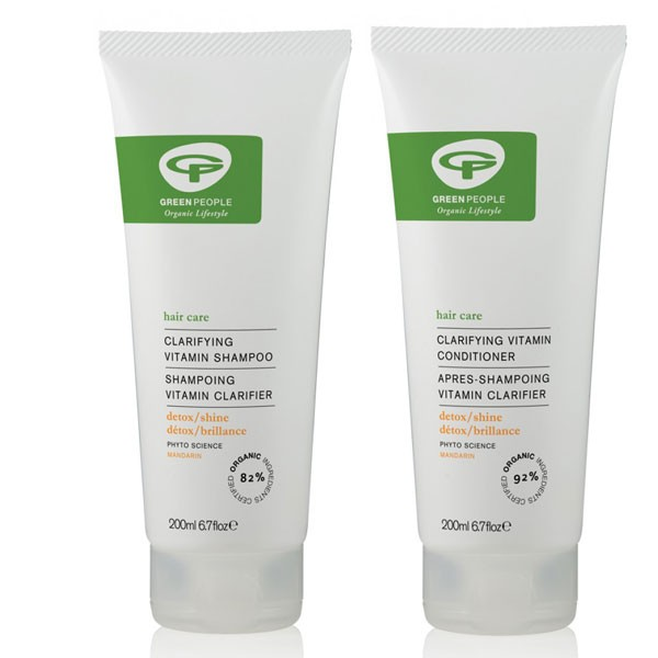 Green People Clarifying Vitamin Shampoo + Conditioner Bundle