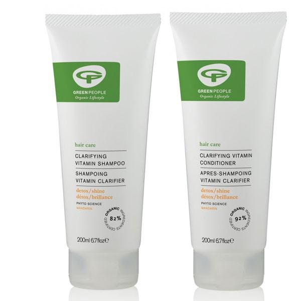 Green People Clarifying Vitamin Shampoo + Conditioner Bundle