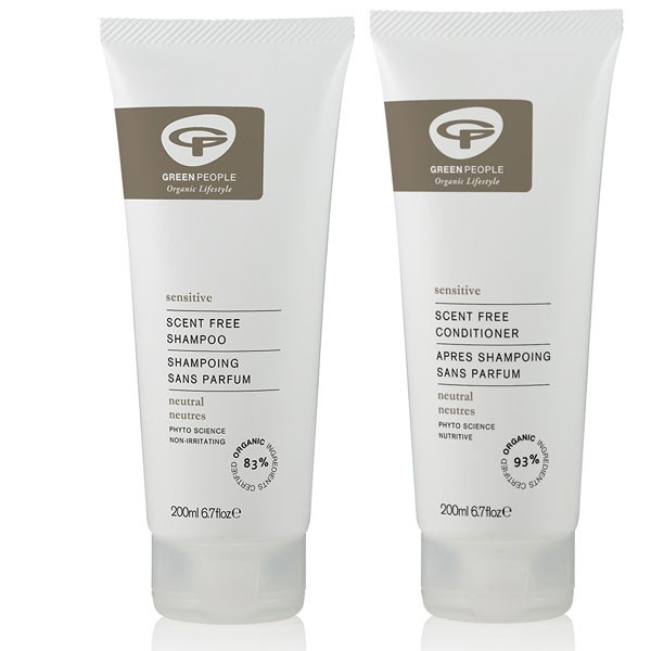 Green People No Scent Shampoo + Conditioner Bundle