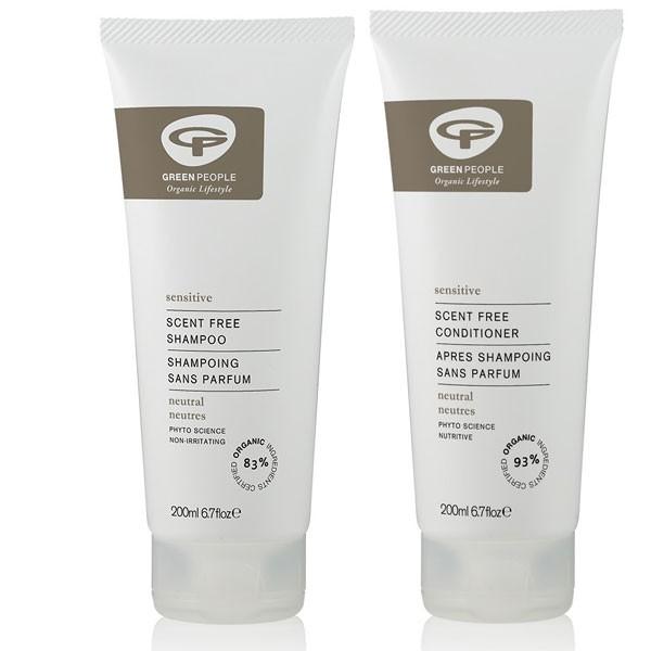 Green People No Scent Shampoo + Conditioner Bundle