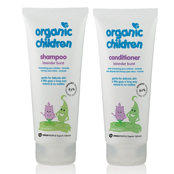 Organic Children Lavender Burst Shampoo + Conditioner Bundle