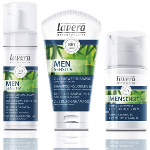 Lavera Men Selection Pack  - choose either deodorant or shaving foam to go with your shower shampoo and moisturiser