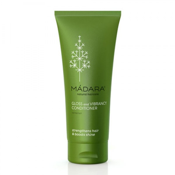 Madara Gloss & Vibrancy Organic Conditioner leaves hair shiny and strengthened