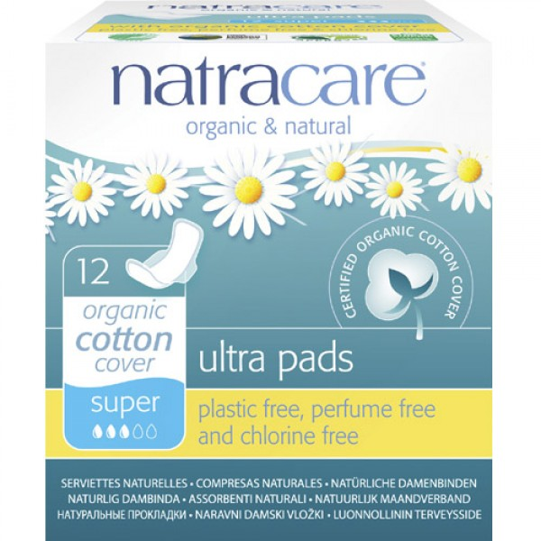 Natracare Ultra Pads Super with Wings