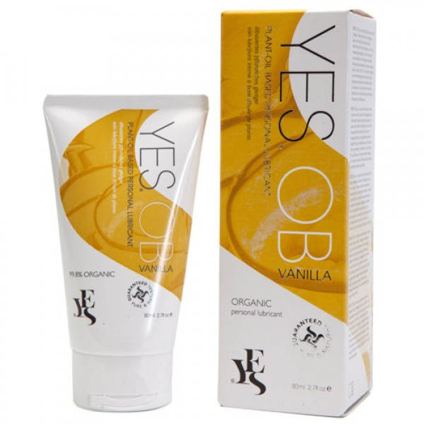 Yes OB Vanilla Plant Oil Based Organic Lubricant (80ml)