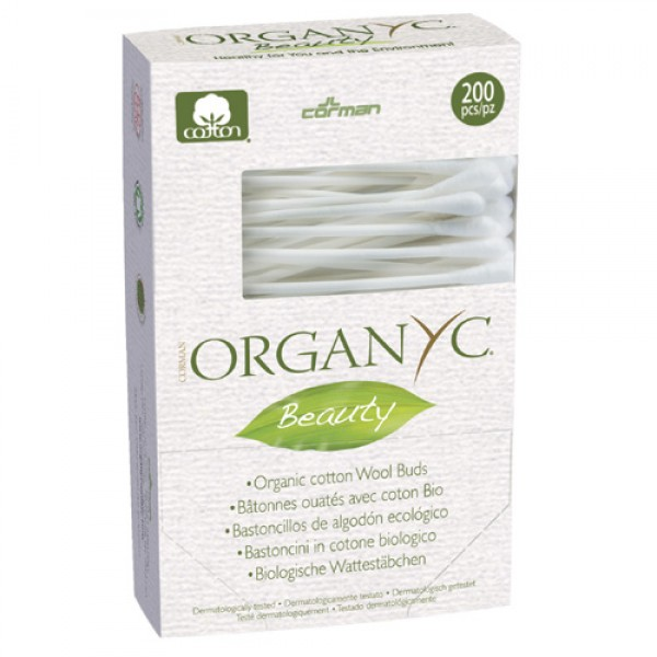 Organyc Cotton Wool Buds - 200 pack