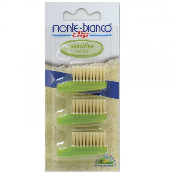Natural Bristle Tooth Brush Heads Sensitive