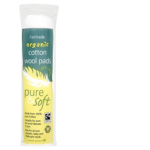 Fairtrade Organic Cotton Wool Pads (80)