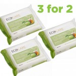 3 for 2 on Eco Care Facial Wipes Apple + Honey for Combination Skin