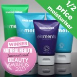 Buy any two Elements products and get the moisturiser half price with our launch offer