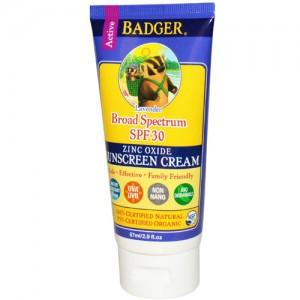 Badger Sunscreen SPF30 Lightly Scented