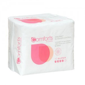 Comforts Super Pads for bladder weakness