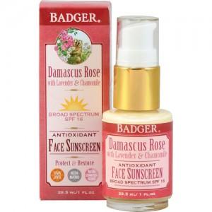 Badger Rose Face Lotion SPF16