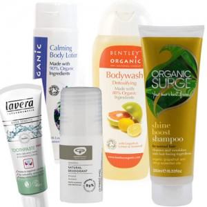 5 items including: Toothpaste, Deodorant, Shower Gel, Shampoo, Body Lotion,