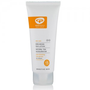 Green People SPF15 Edelweiss Sunscreen with Tan Accelerator 100ml