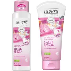 Lavera Gloss & Bounce Shampoo & Conditioner Bundle for Dull, Lifeless Hair