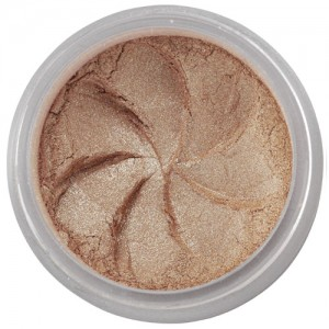 Shimmer Deep, Rich Gold in a natural loose mineral powder formulation.