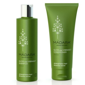 Madara Gloss & Vibrancy Organic Shampoo & Conditioner - strengthens hair and boosts shine