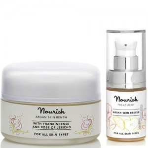 Nourish Argan Skin Renew Moisturiser & Skin Rescue Facial Serum