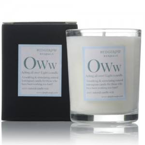 "Natural Candles ""Oww"" for aches"