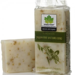 Hand Made Soap with Peppermint and Oats