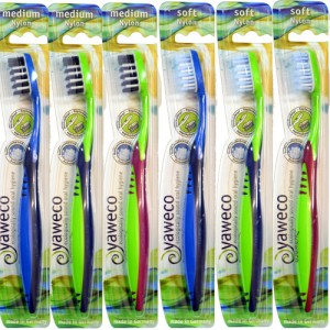 Yaweco Nylon Bristle Toothbrush in assorted colours