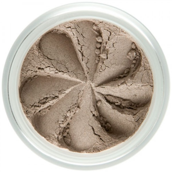 Matte smoky taupe in a natural loose mineral powder formulation