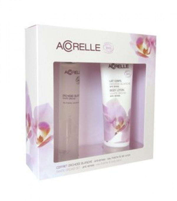 Acorelle Natural Perfume - White Orchid Body Spray & Body Lotion Gift