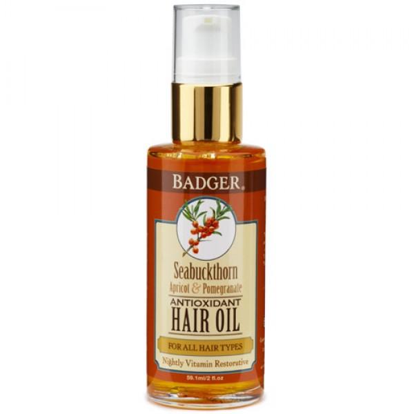 Badger Seabuckthorn Hair Oil for All Hair Types