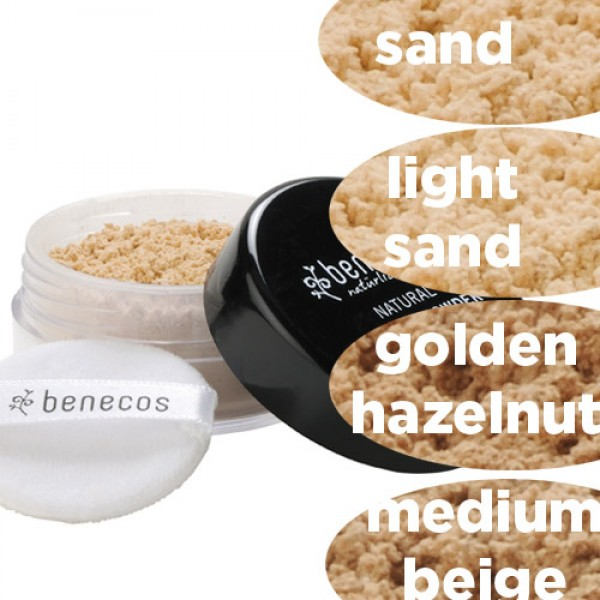 Benecos Natural Mineral Powder in 4 natural shades