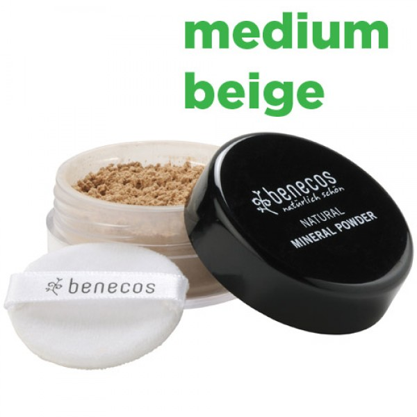 Benecos Natural Mineral Powder - medium beige