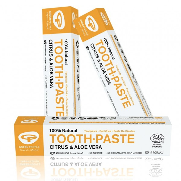 Buy 3 and save 5%: Green People Citrus & Aloe Vera Organic Toothpaste