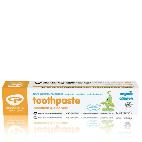 Green People Organic Children Mandarin & Aloe Vera Toothpaste