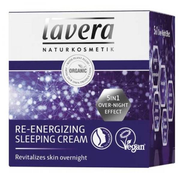 Lavera Re-Energising Sleeping Cream - revitalises skin overnight