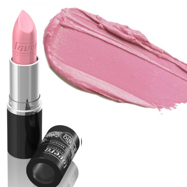 Lavera Lipstick 19 Frosty Pink - Shimmery Pink - like strawberry ice cream
