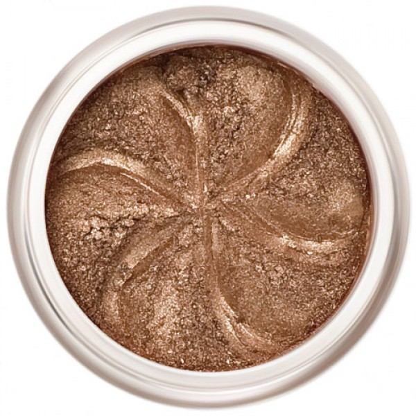 Deep rich bronze shimmer in a natural loose mineral powder formulation.