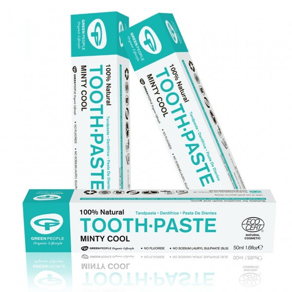 Buy 3 and save 5%: Green People Minty Cool Fluoride Free Toothpaste