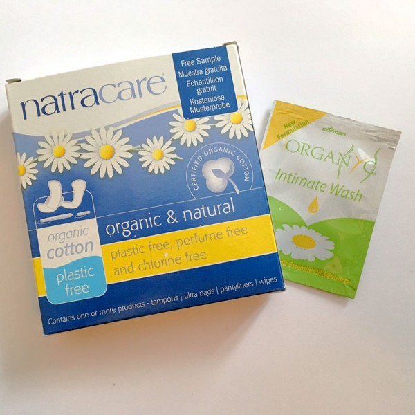 Natracare Samples Pack - when available we will also send a sachet of intimate wash.