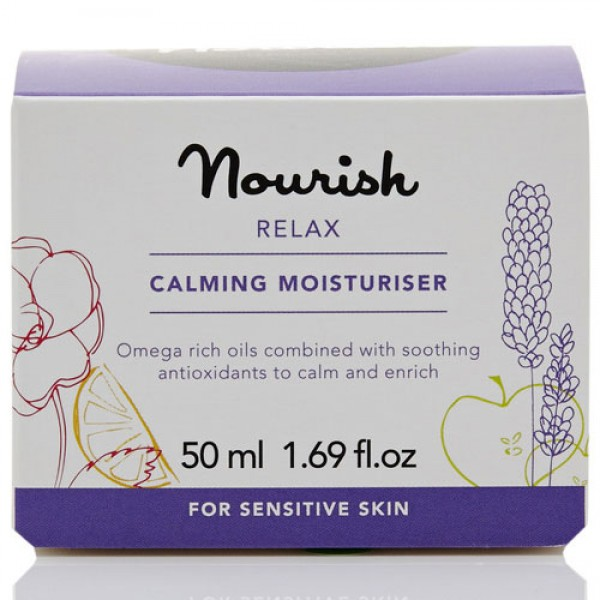 Nourish Relax Calming Moisturiser for sensitive skin