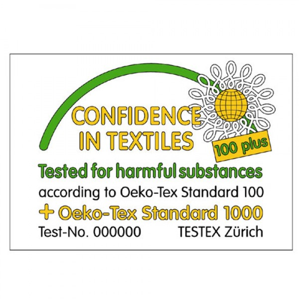 Skin Blossom silk mattress toppers are Oko-tex 100 certified to guarantee that they are free from harmful chemicals