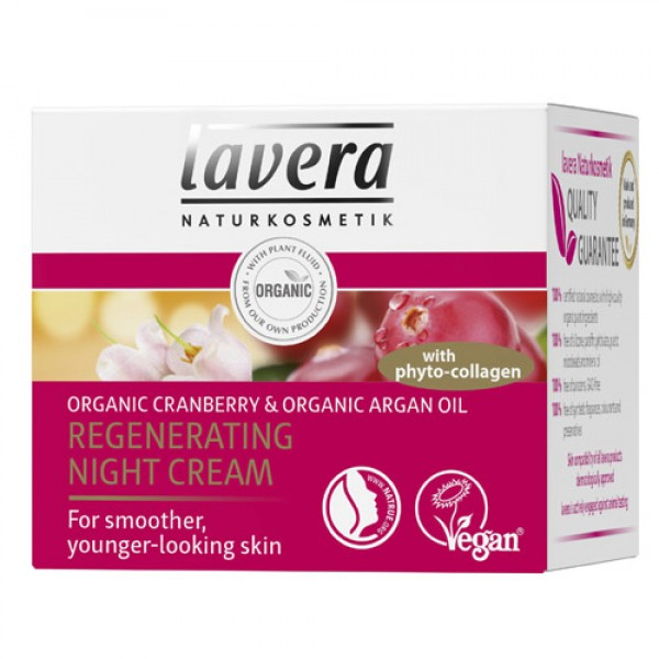 Lavera Anti Wrinkle Regenerating Night Cream with cranberry and argan